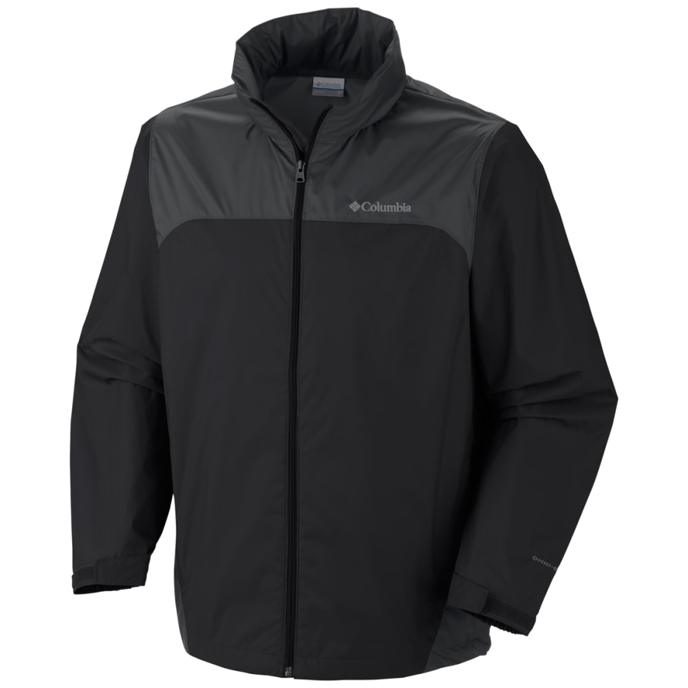 COLUMBIA Men's Glennaker Lake Rain Jacket - BLACK/GRILL-010