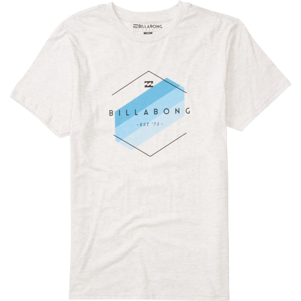 BILLABONG Guys' Obstacle Tee - TRUE GREY HEATHER/BL