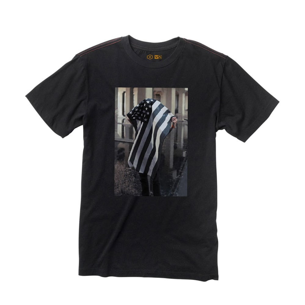 RVCA Guys' Miller Flag Tee - BLACK