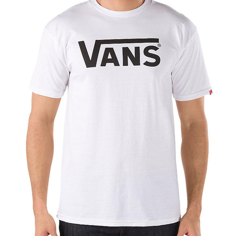 VANS Men's Classic Logo Tee - WHITE/PERIWINKLE