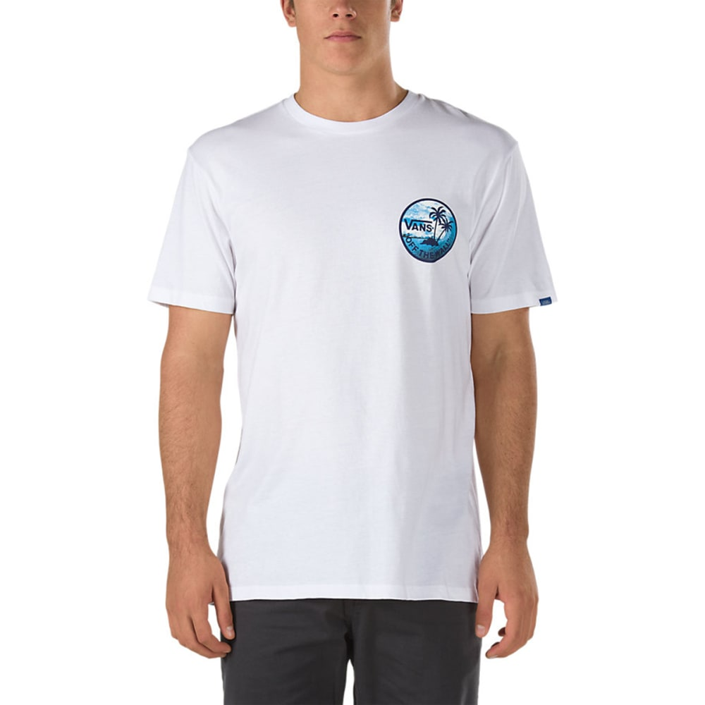 VANS Guys' Dual Palm Photo Fill Tee - WHITE