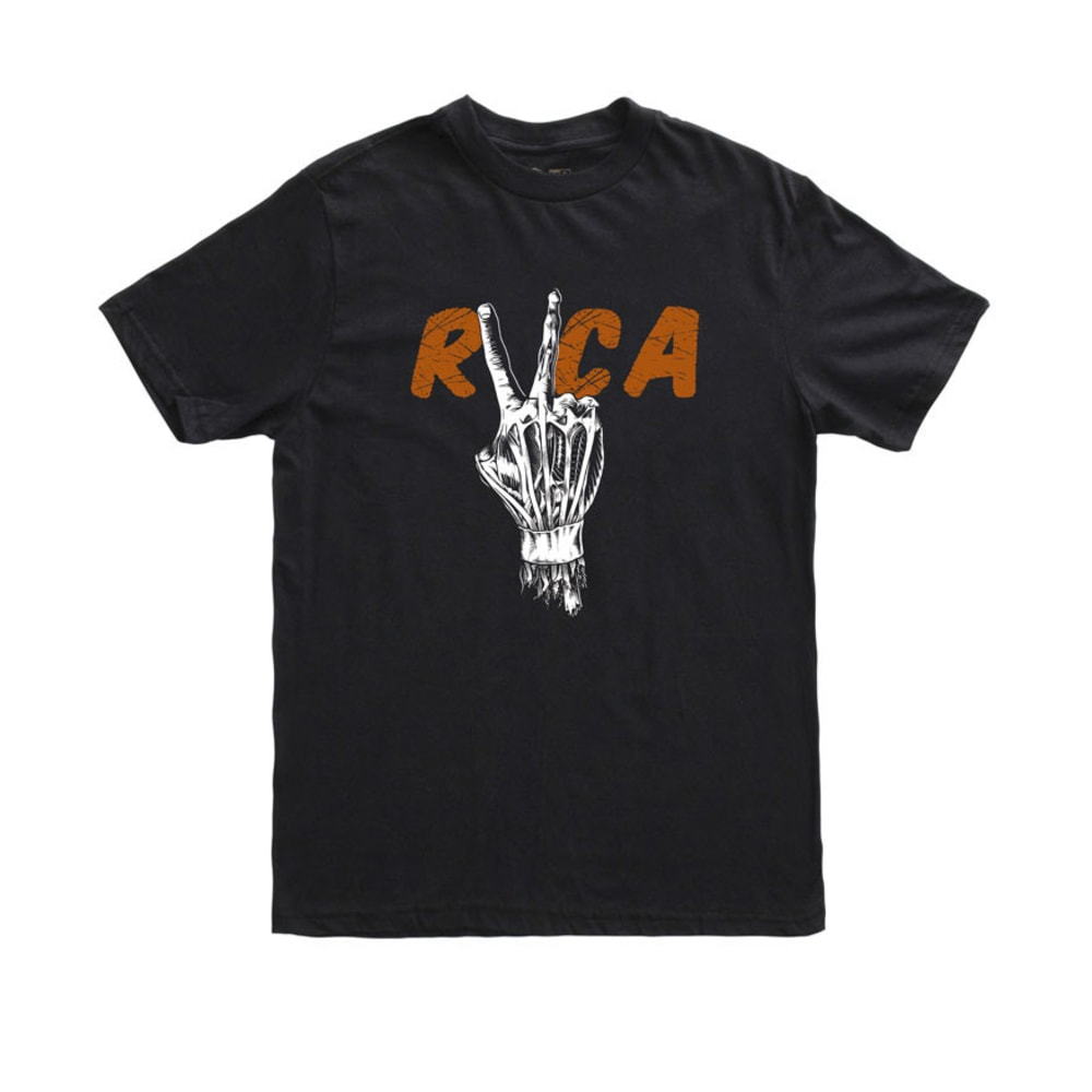 RVCA Hand Study Tee - BLACK