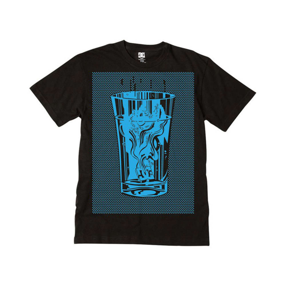 DC SHOES Guys' Fizzer Tee - BLACK/BLUE