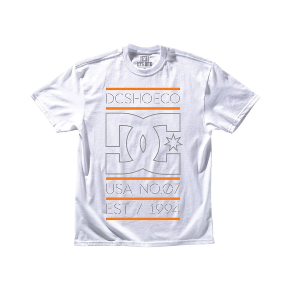 DC SHOES Guys' RD Highlight Stacked Tee - WHITE/ORANGE