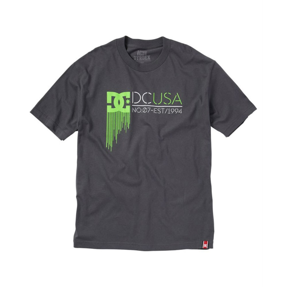 DC SHOES Young Men's RD Highlight State Tee - DARK SHADOW/GREEN