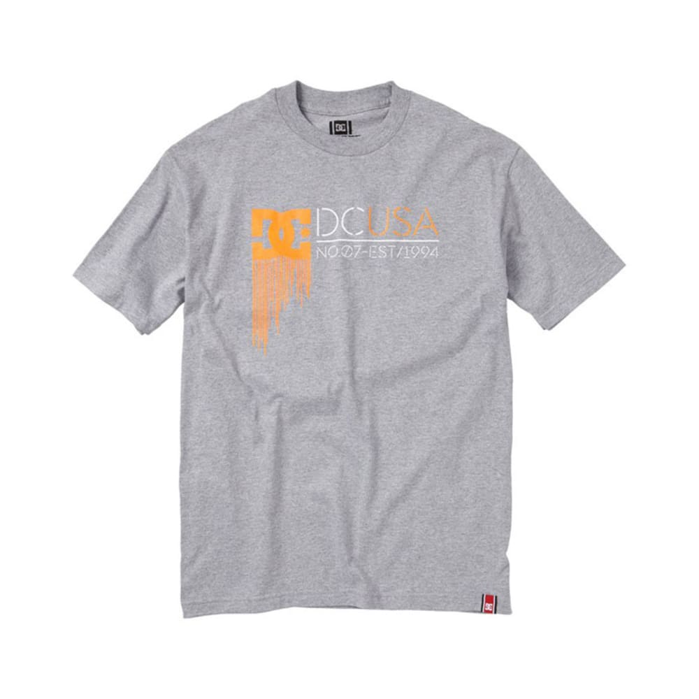 DC SHOES Guys' RD Highlight State Tee - SLATE HEATHER