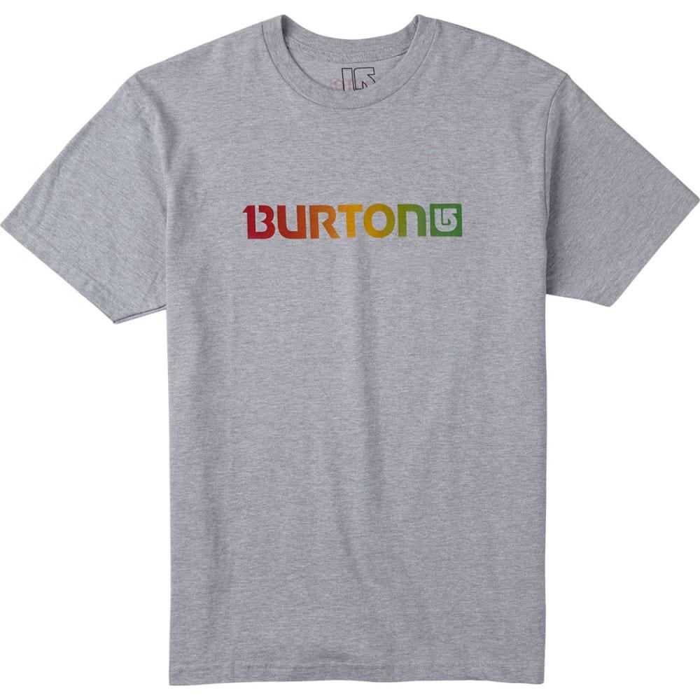Burton Men's Logo Horizontal Short Sleeve Tee - HEATHER GREY