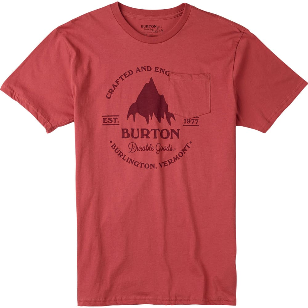Burton Guys' Gristmill Pocket Tee - Red, S