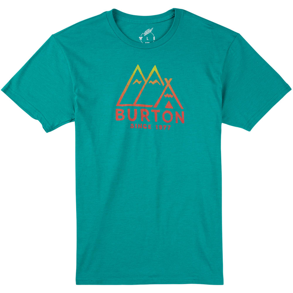 BURTON Men's Foothills Recycled Slim-Fit T-Shirt - HEATHER TEAL