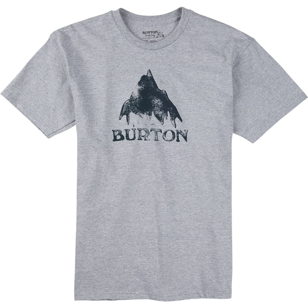 BURTON Guys' Stamped Mountain Short-Sleeve Tee - HEATHER GREY