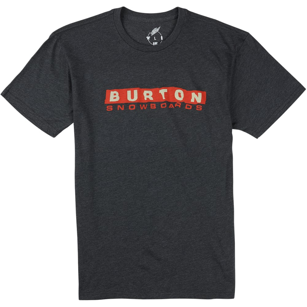 BURTON Men's Carson Recycled Slim-Fit T-Shirt - ONYX