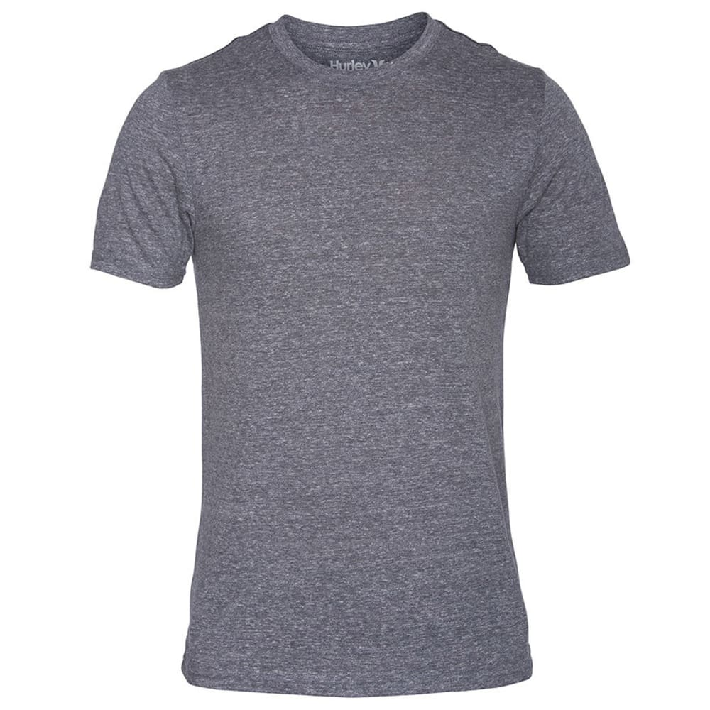 HURLEY Young Men's Staple Tri-blend Mock Twist Tee - CHARCOAL