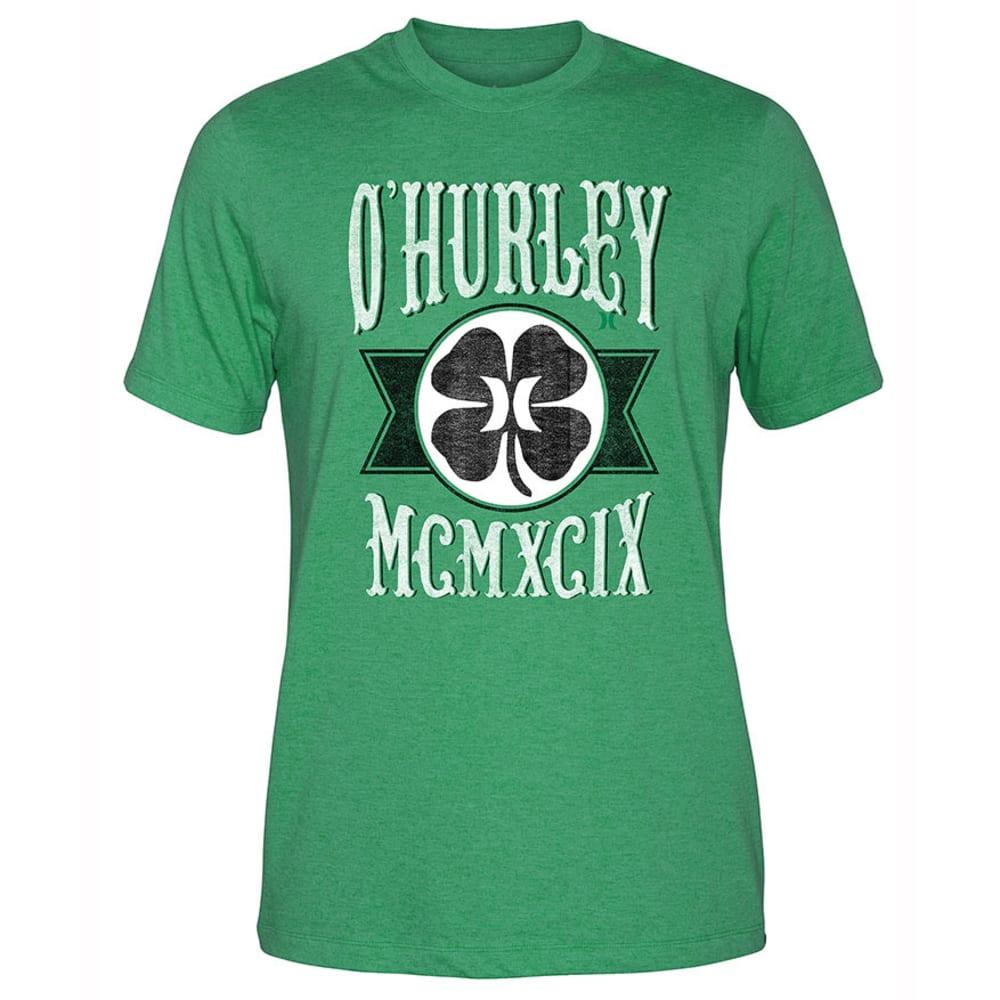 HURLEY Guys' O'Hurley Green Leaf Tee - HEATHER KELLY GREEN