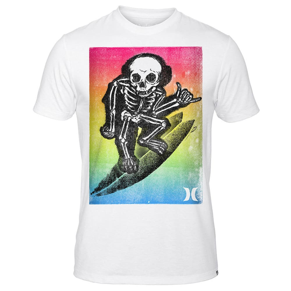 HURLEY Guys' Death Monkey Premium Tee - WHITE