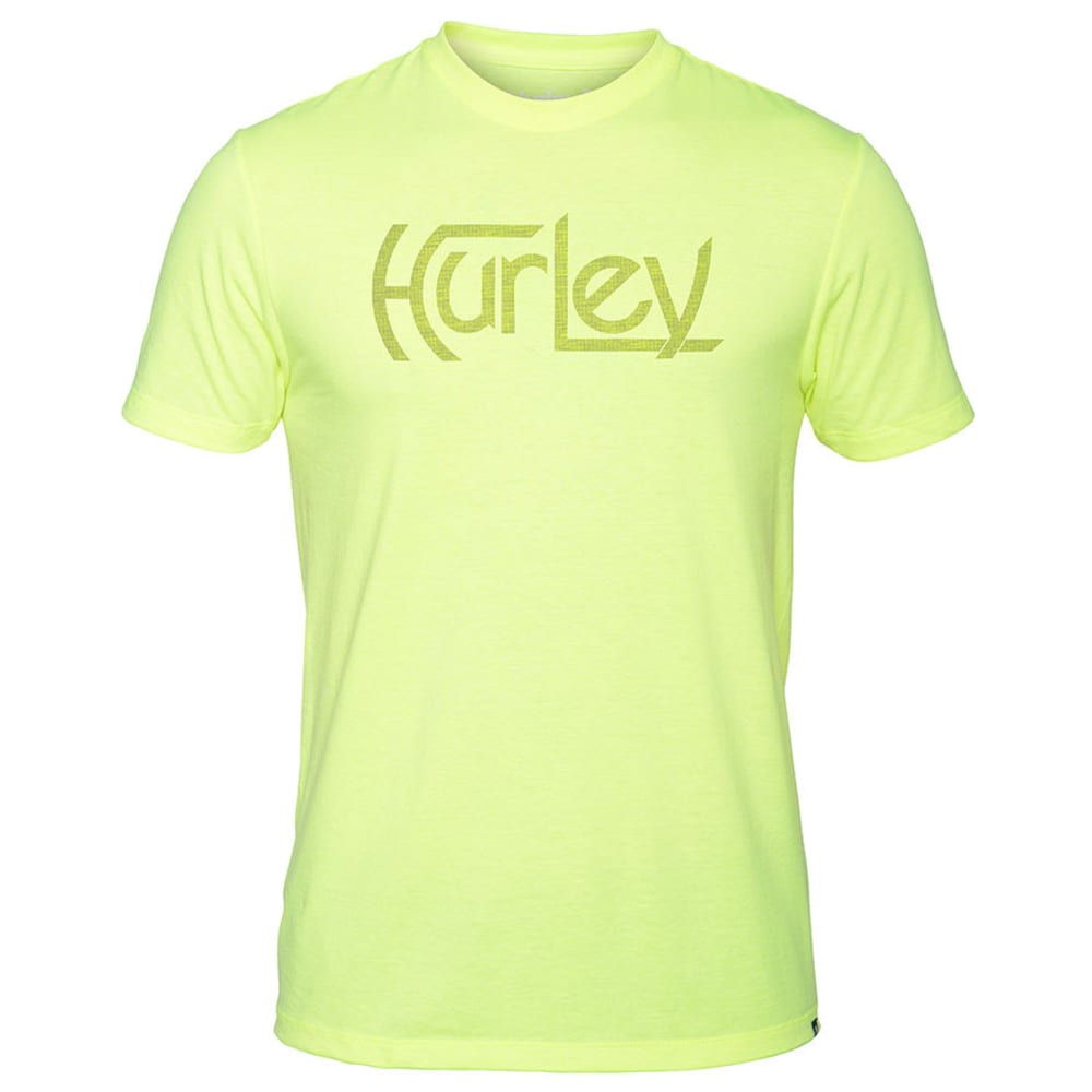 HURLEY Guys' Original Push Through Premium Tee - HEATHER VOLT