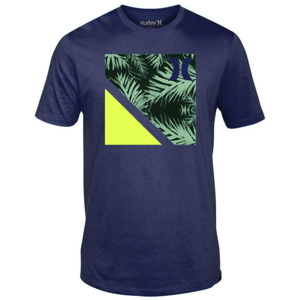 HURLEY Guys' Rubix Palm Logo Tee - BOZZETTO BLUE