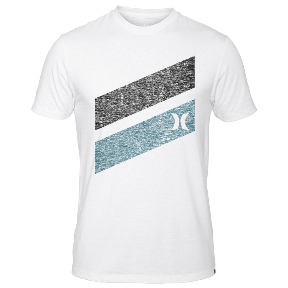 Hurley Men's Icon Slash Push Through SS Tee - WHITE