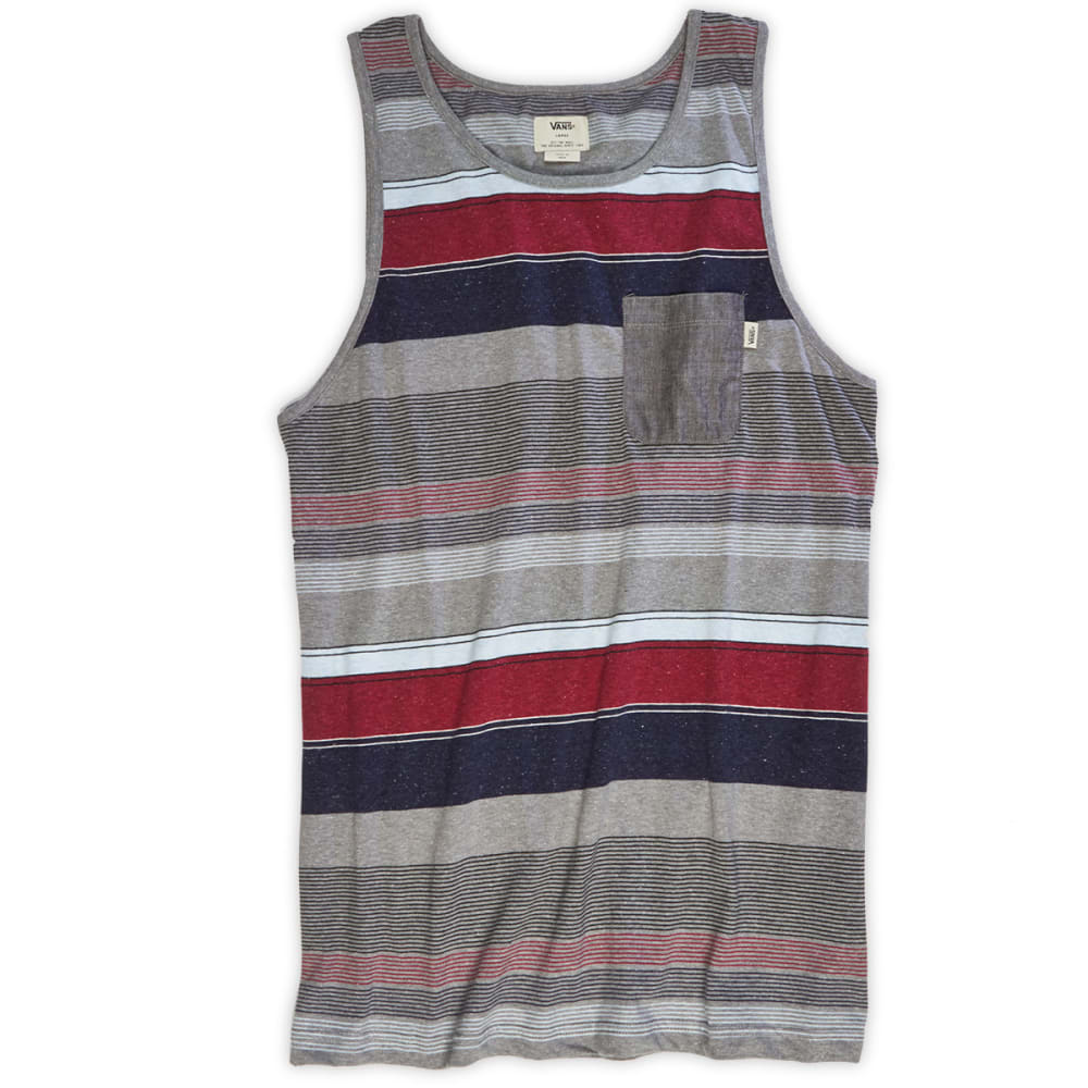 VANS Guys' Point Loma Stripe Tank - BLACK