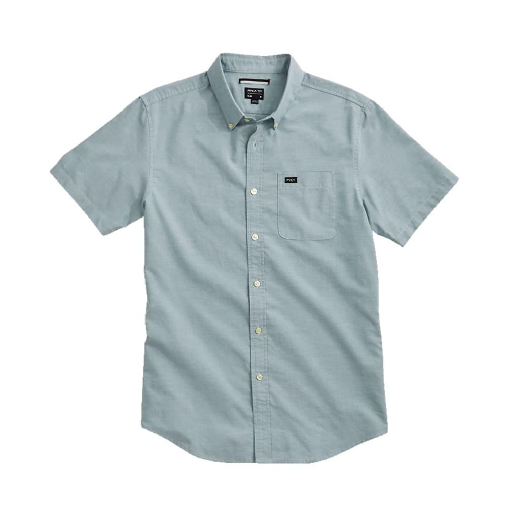 RVCA Guys' That'll Do Oxford Shirt - SHOAL BLUE