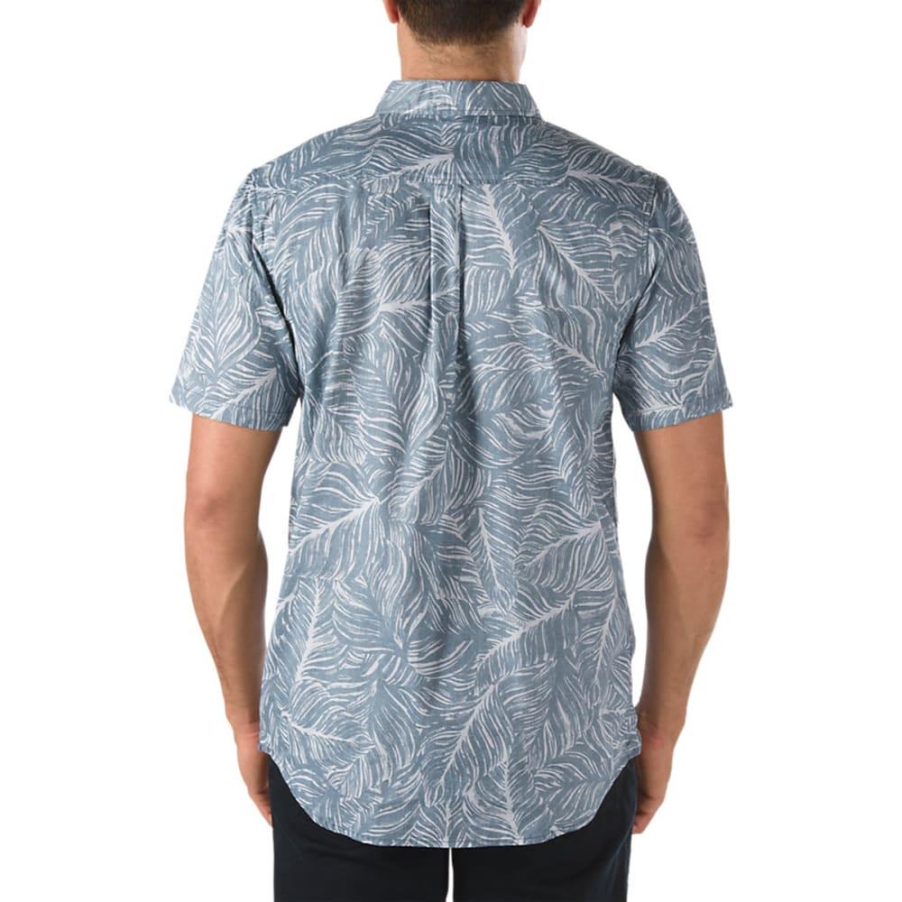 VANS Men's Citrus Button Down Shirt - GRANITE HEATHER/OXFO