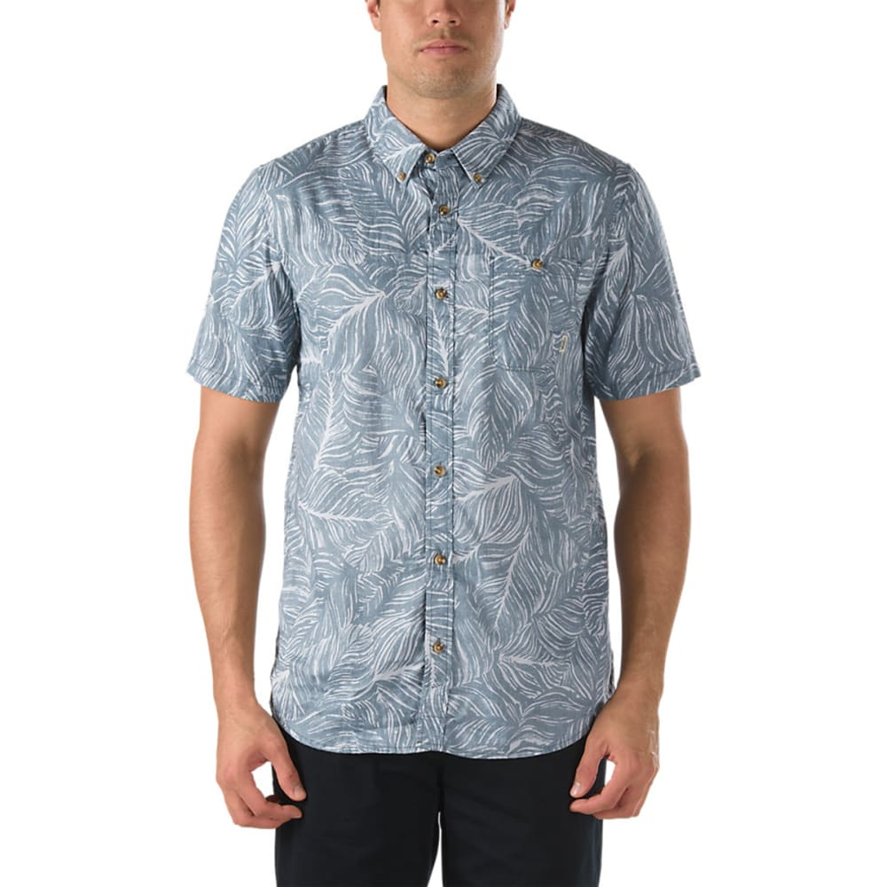 VANS Men's Citrus Button Down Shirt - GRANITE HEATHER/OXFO
