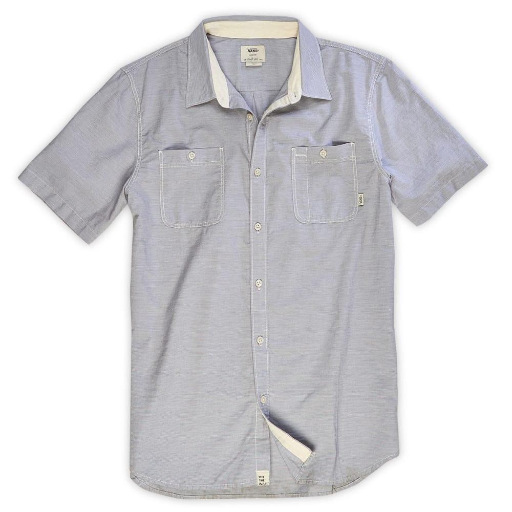 VANS Guys' Guilder II Short-Sleeve Woven Shirt - GRAPHITE