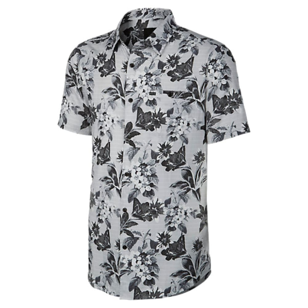HURLEY Men's Meadowlark Short-Sleeve Shirt - WHITE-10A