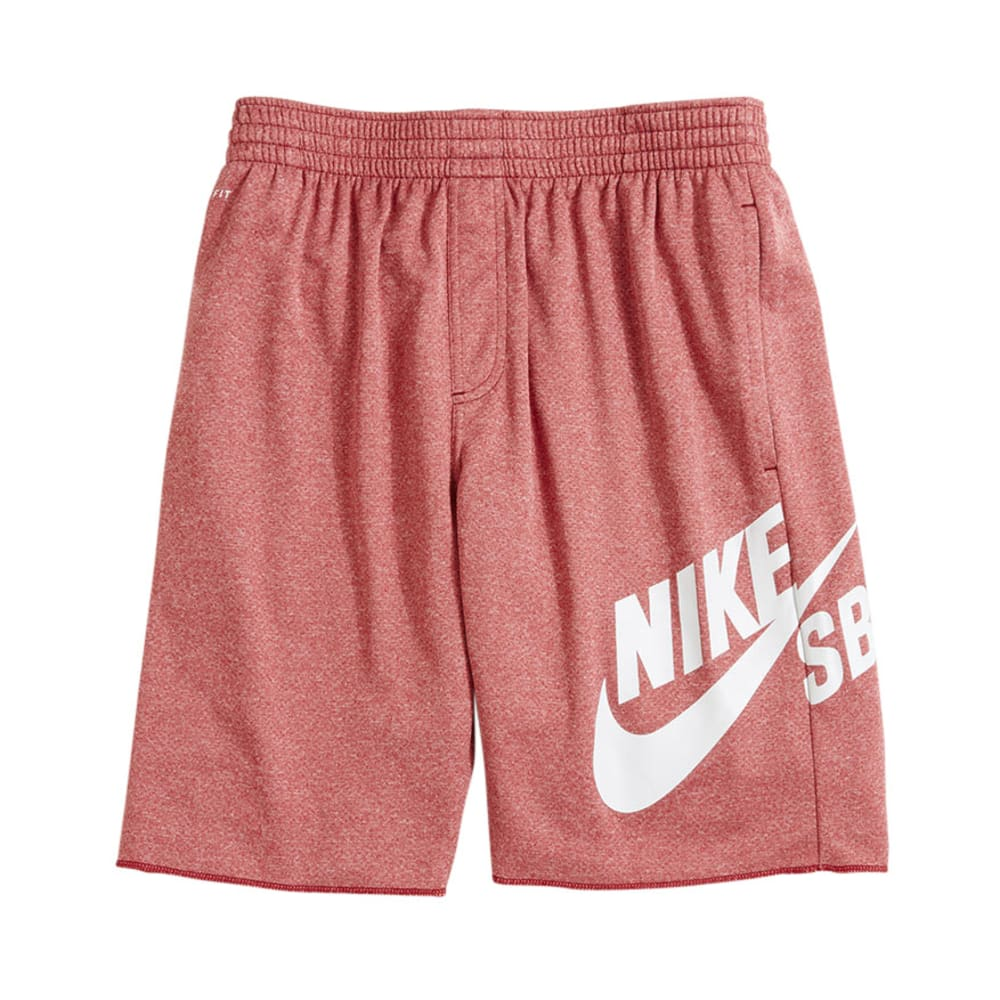 NIKE Young Men's SB Sunday Dri-Fit Shorts - RED