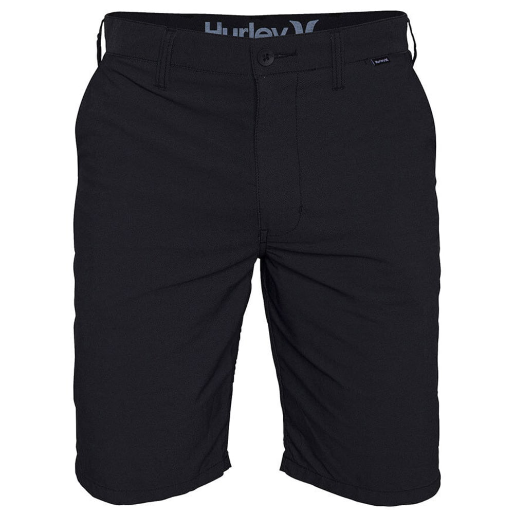 HURLEY Young Men's Dri-FIT Chino Shorts - HEATHER BLACK