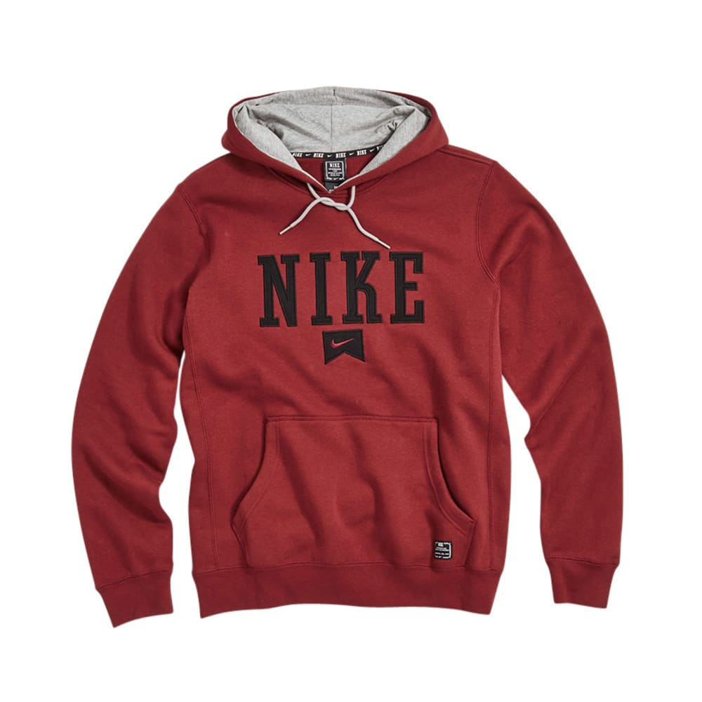 NIKE Young Men's Foundation Stymie Fleece - PREMIER - TEAM RED