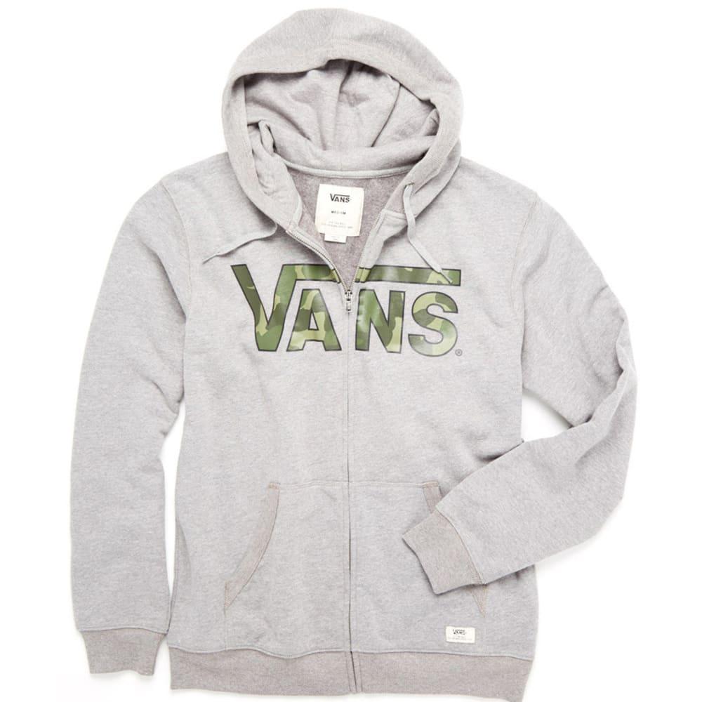 VANS Men's Classic Zip Hoodie - GREY CAMOUFLAGE