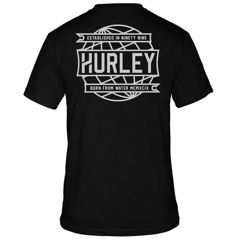 HURLEY Men's Custom Premium Tee - BLACK
