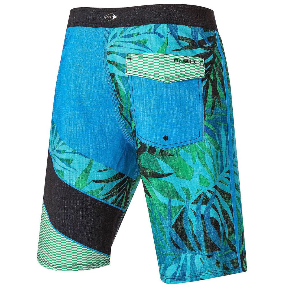 O'NEILL Guys' Jordy Freakout Board Shorts - GREEN