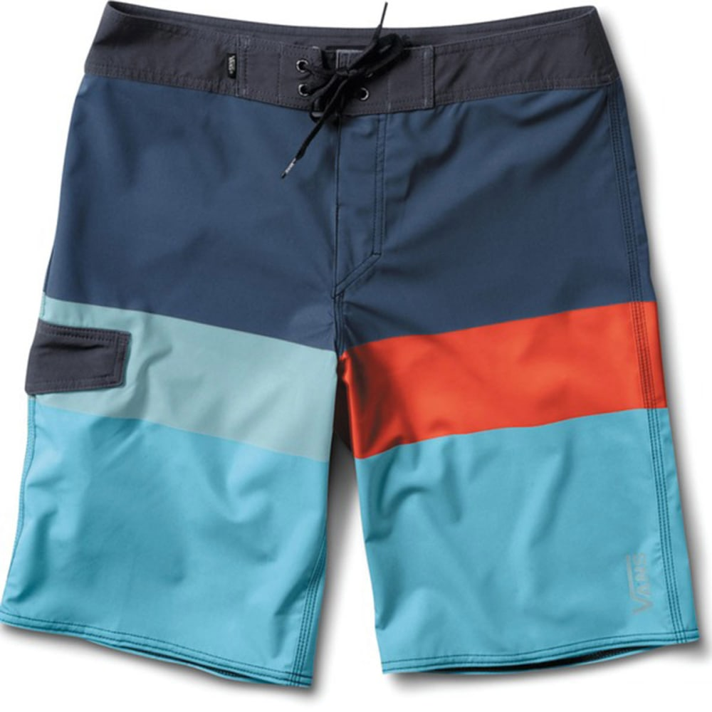 VANS Guys' Block Rock Board Shorts - ENSIGN BLUE