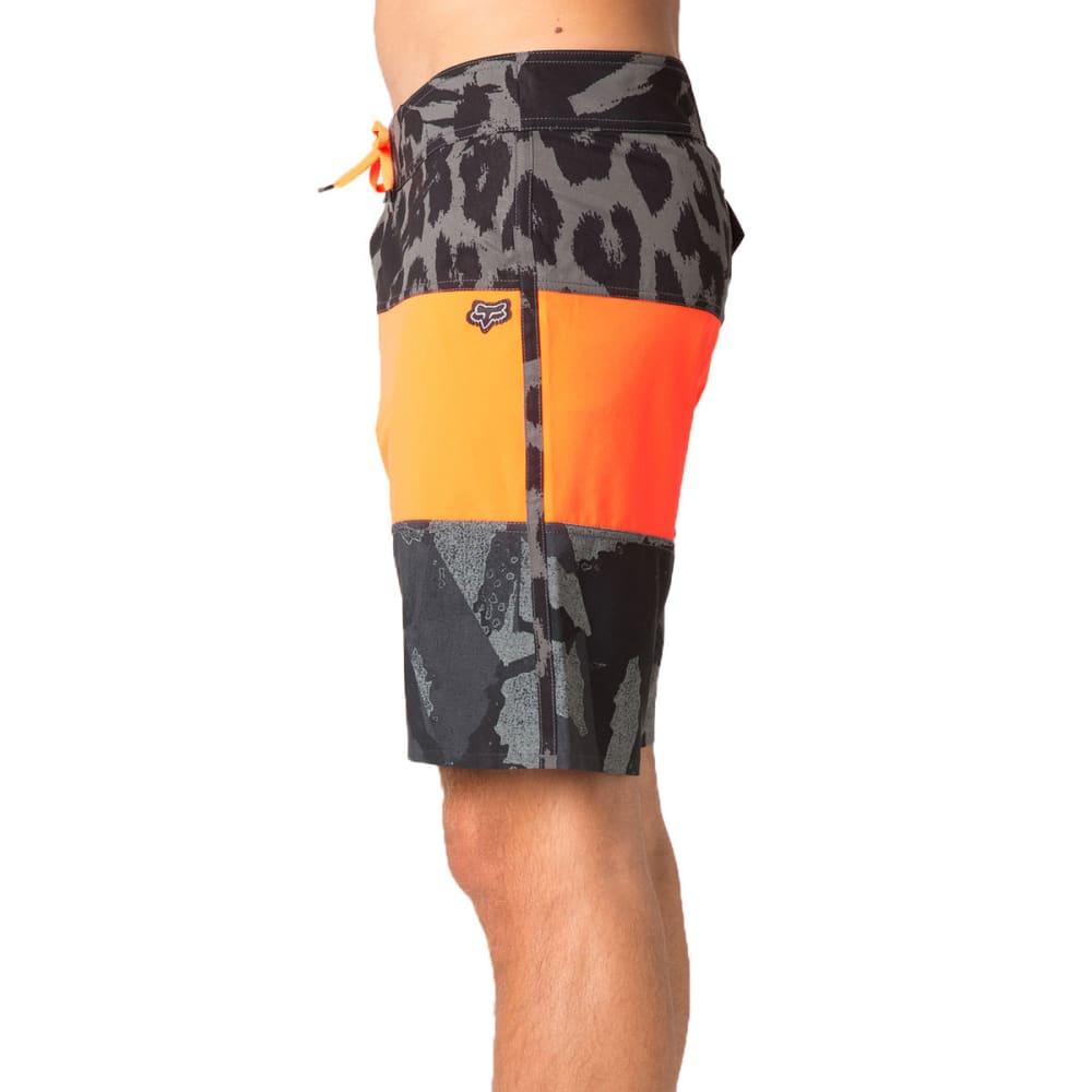 FOX Guys' Camino Stacker Board Shorts - FLO ORANGE