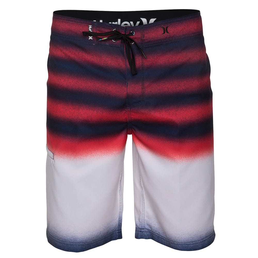 HURLEY Men's Ragland Destroy Board Shorts - NAVY