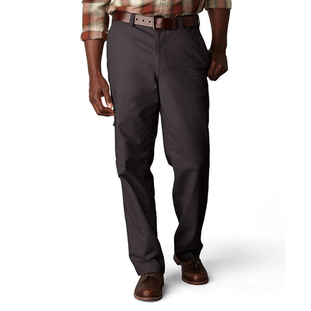 DOCKERS Men's Comfort Cargo Classic Fit Flat Front Pants - STEELHEAD 0019