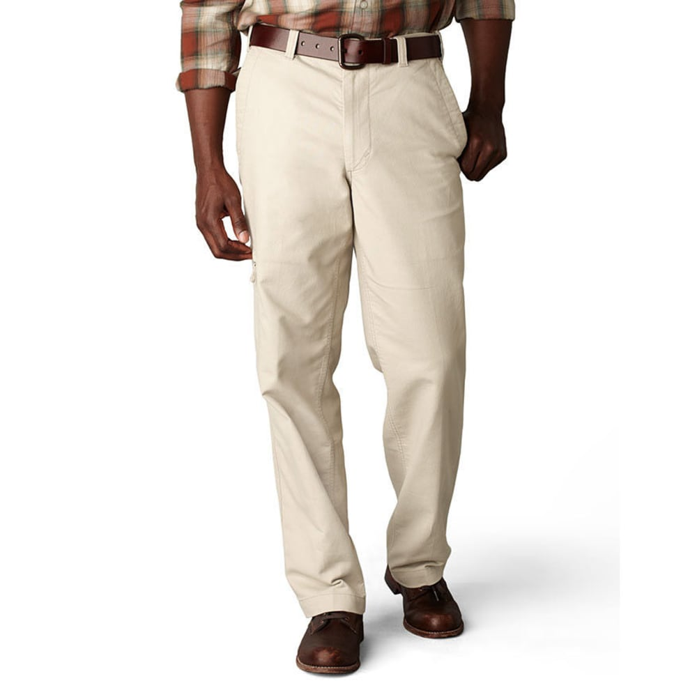 DOCKERS Men's Comfort Cargo Classic Fit Flat Front Pants - LIGHT BUFF 0015