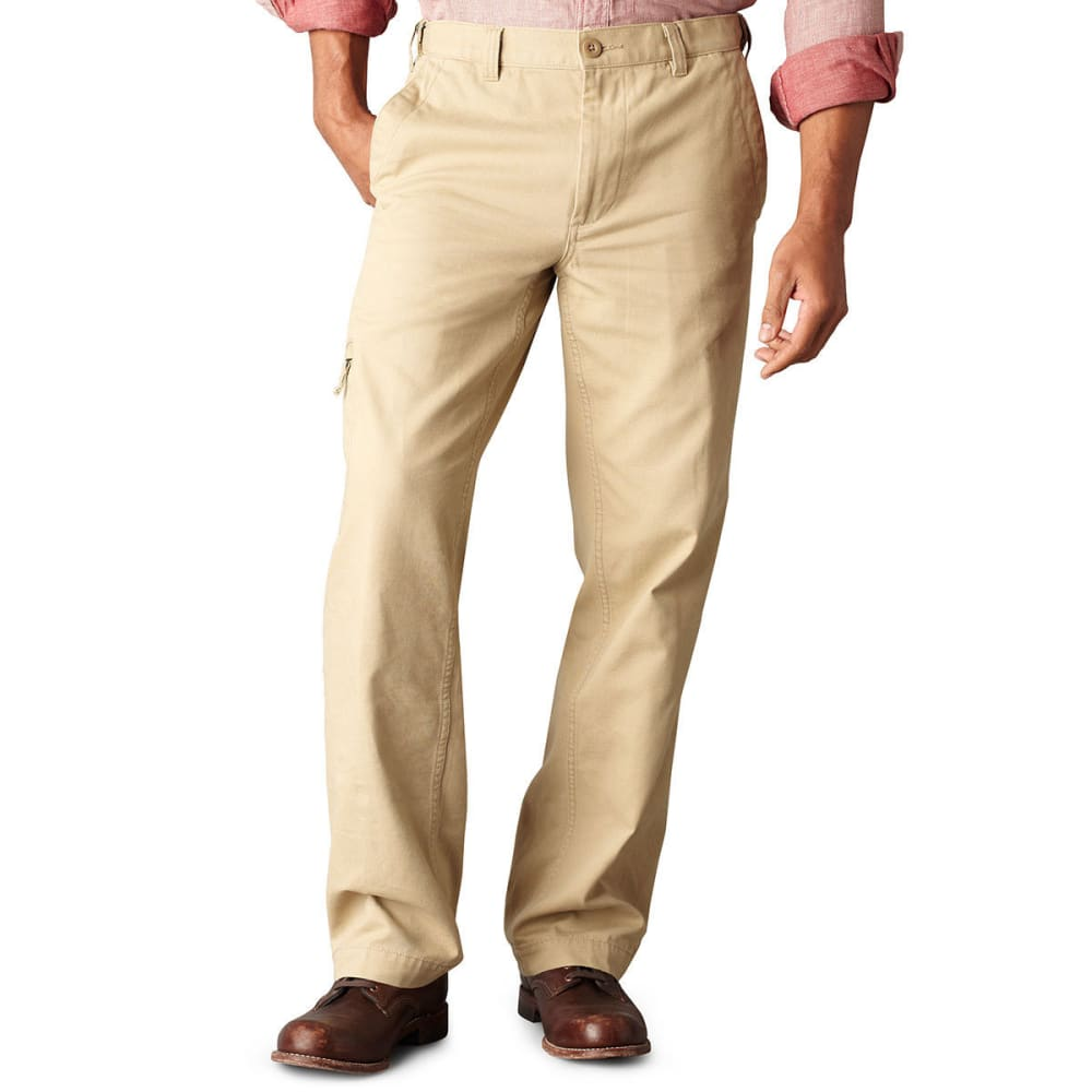Dockers Men's Comfort Cargo Classic Fit Flat Front Pants - Brown, 34/29