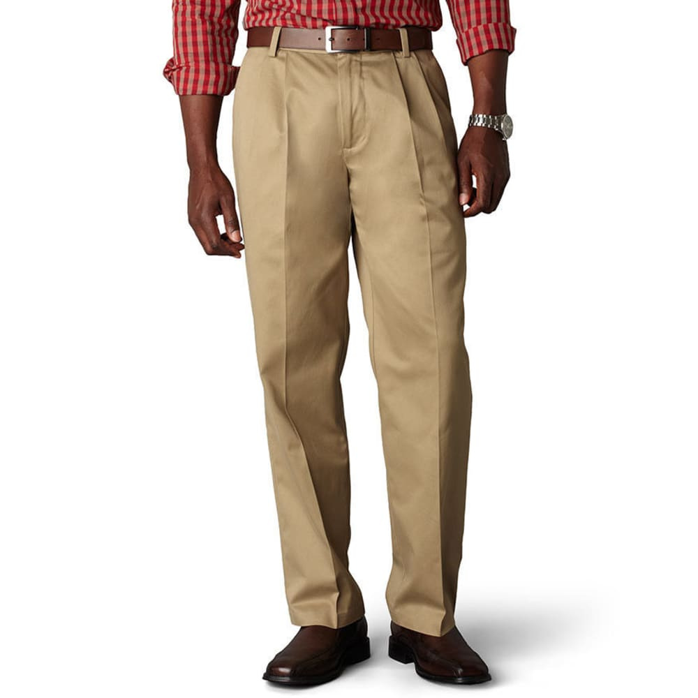DOCKERS Signature Khaki Classic Fit Pleated Pants - DARK KHAKI