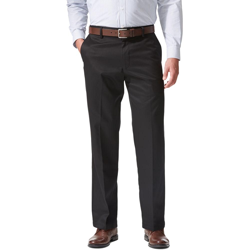 Dockers Signature Khaki Classic Fit Flat Front Pants - Black, 36/34