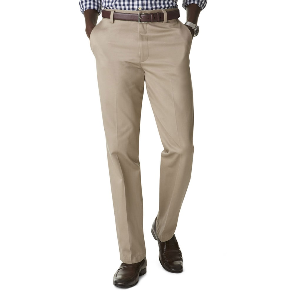 DOCKERS Signature Khaki Straight Fit Flat Front Pants - BRITISH KHAKI