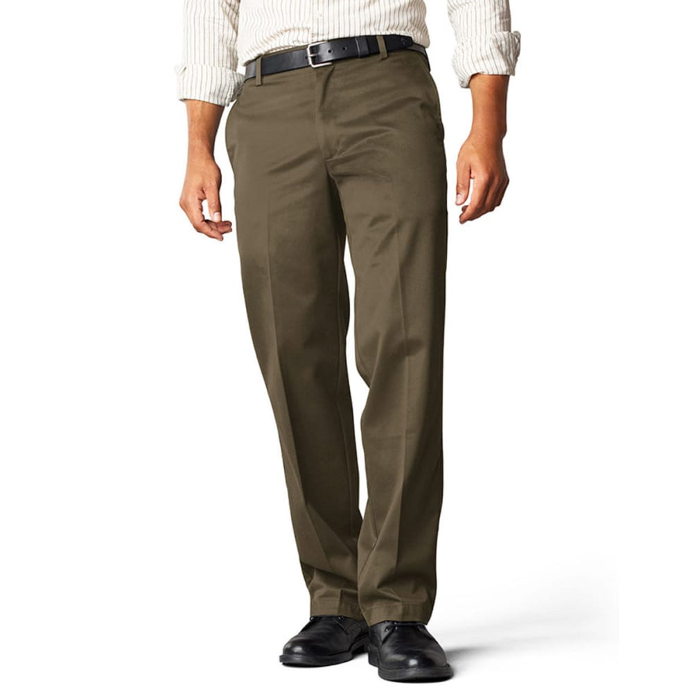 DOCKERS Signature Khaki Straight Fit Flat Front Pants - Discontinued Style - BRANCH