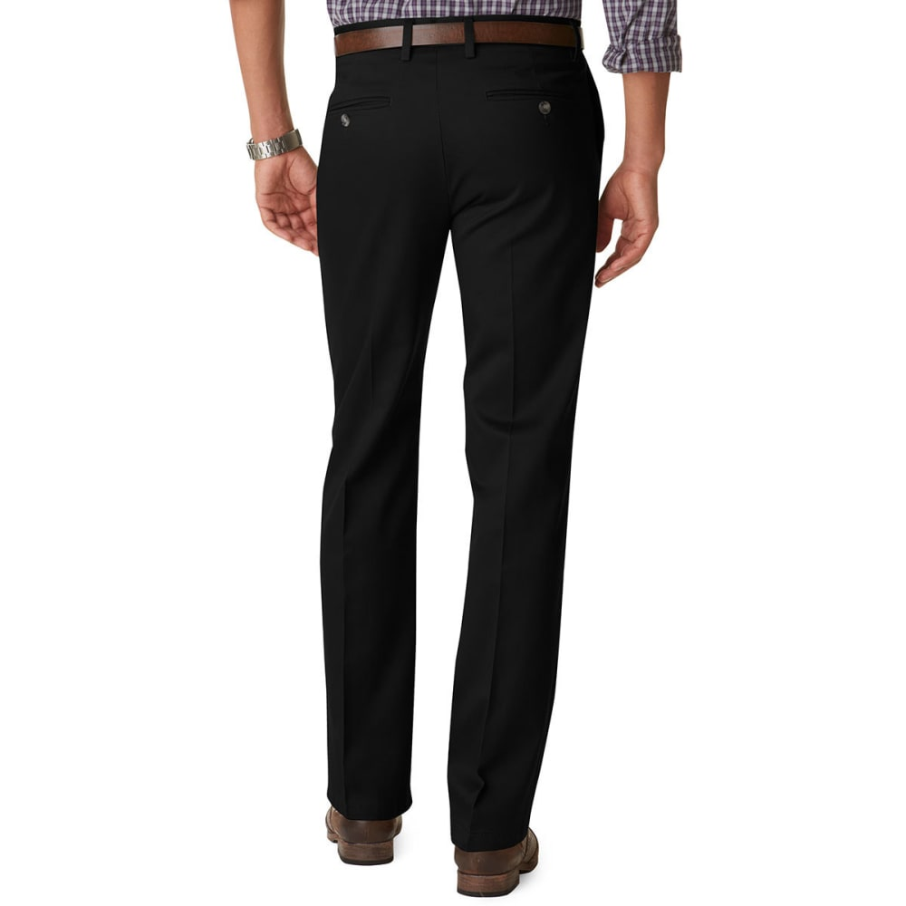 DOCKERS Men's Signature Slim Fit Pants - BLACK