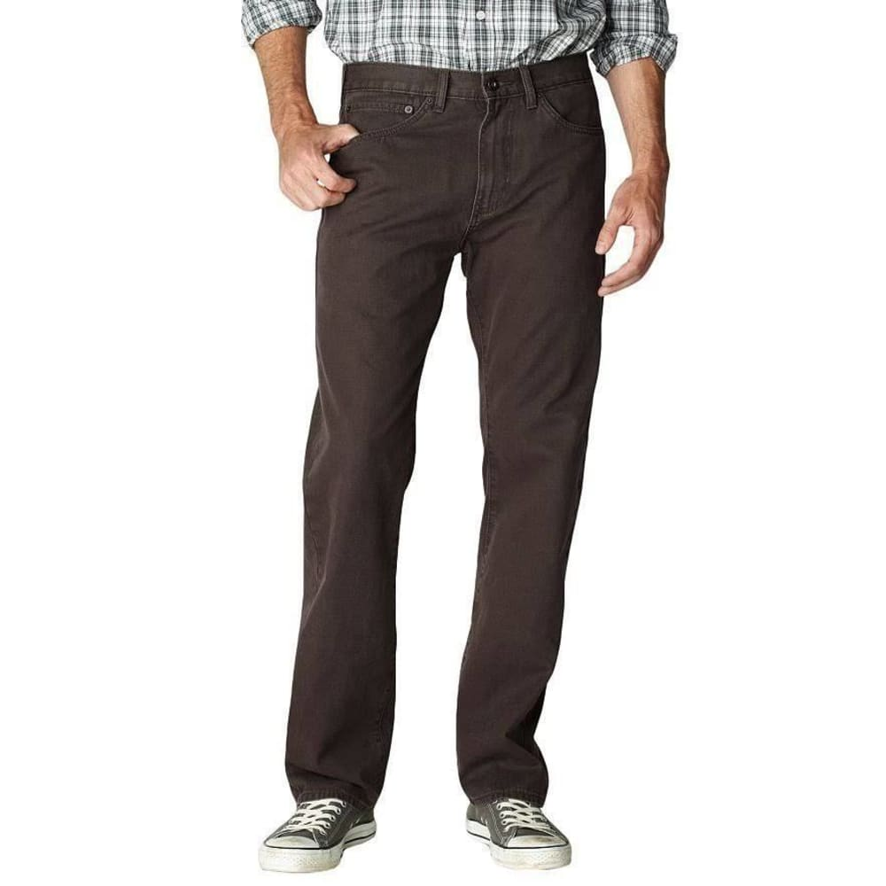 DOCKERS Men's 5 Pocket Straight Fit Pants - Discontinued Style - FRONTIER BROWN