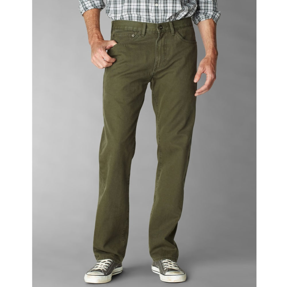 DOCKERS Men's 5 Pocket Straight Fit Pants - Discontinued Style - RIFLE GREEN