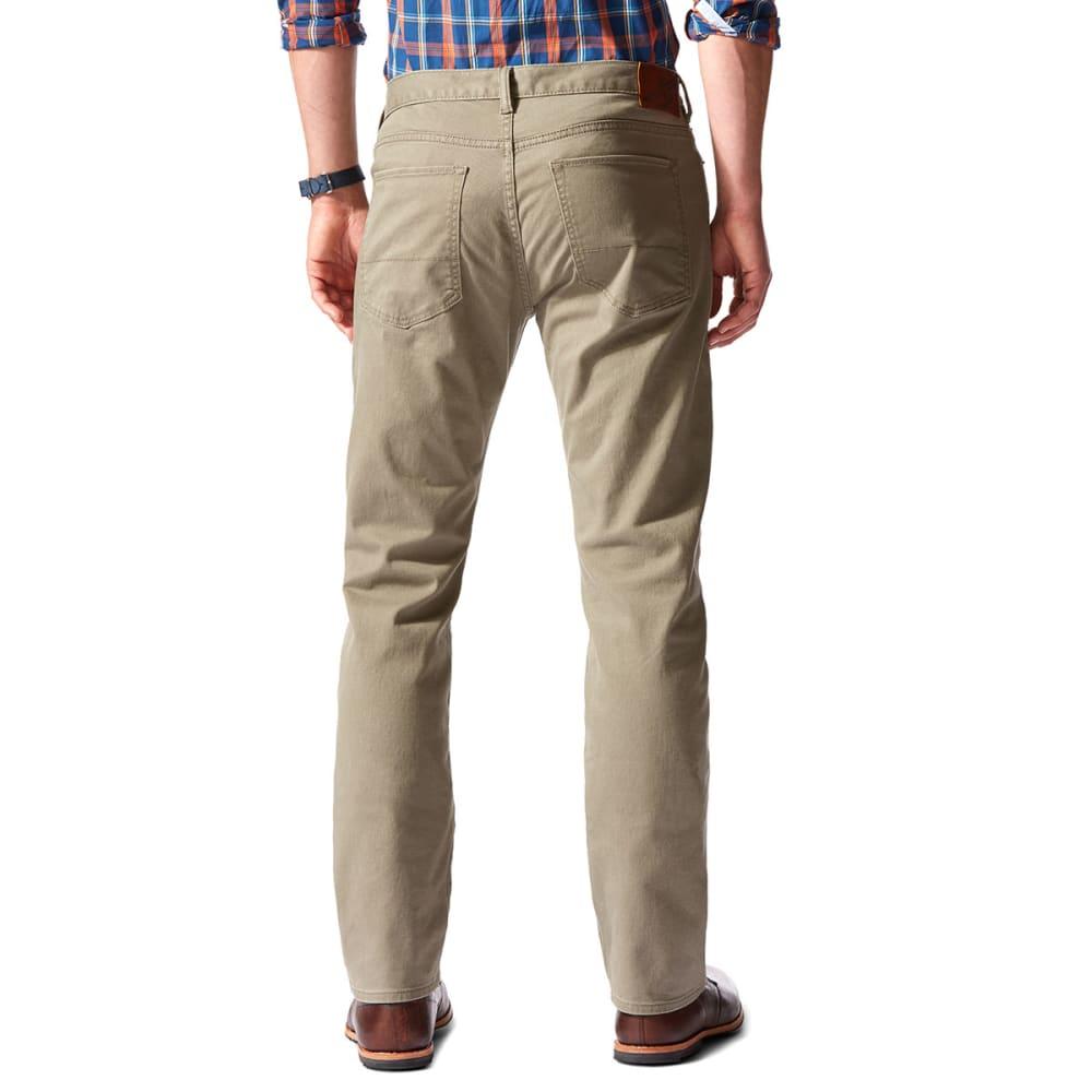 DOCKERS Men's 5-Pocket Straight Leg Twill Pants, Concrete - CONCRETE