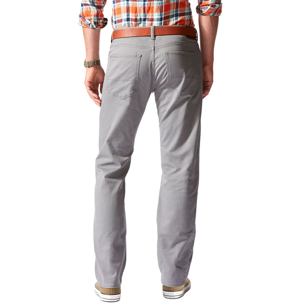 DOCKERS Men's 5-Pocket Straight Leg Twill Pants, Burma Grey - BURMA GREY