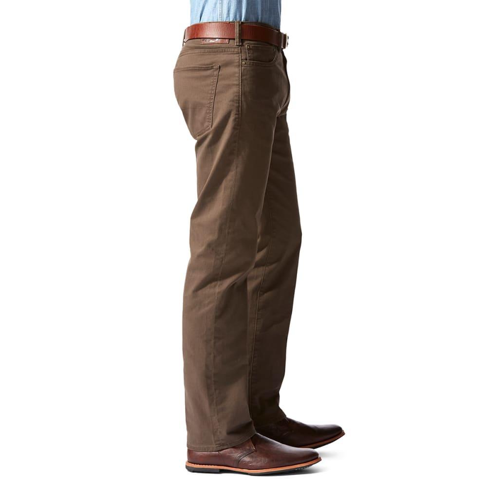 DOCKERS Men's Five-Pocket Twill Pants - HAZELNUT