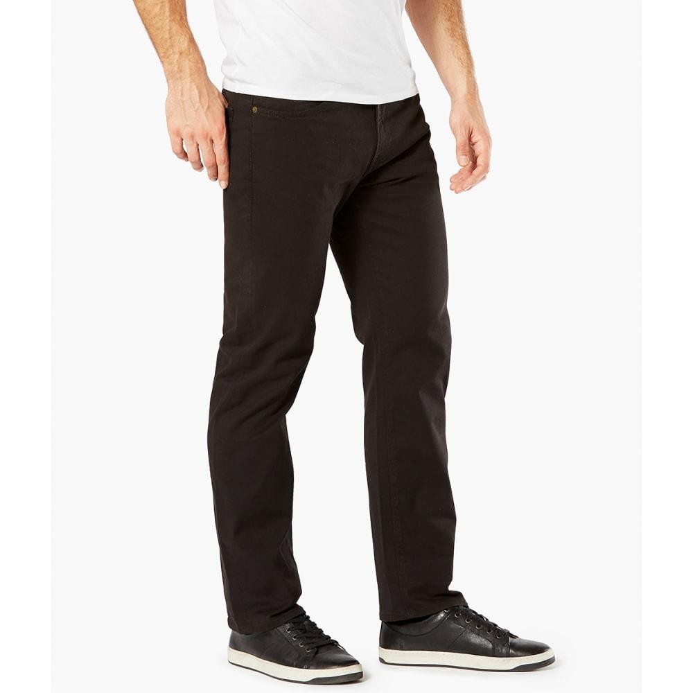 DOCKERS Men's Jean Cut 5-Pocket Straight Leg Twill Pants - BLACK 0011